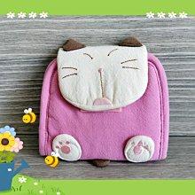 🏆【日本CARA卡拉貓】🏆卡拉貓可愛折疊小錢包純棉材質,可放證件信用卡內外拉鍊,贈零錢包