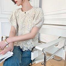 夏季新款 黑米兩色短版蕾絲上衣 [Classique*真經典] 041203