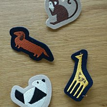 京都 nippon cha cha cha 日本製 可愛動物 刺繡 造型 別針 mh