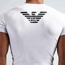 【Yisz World】Emporio Armani Eagle V-Neck 白色時尚V領後背老鷹LOGO短袖內衣