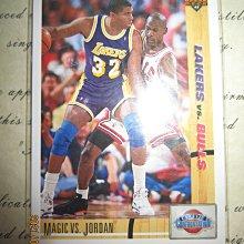 新賣家~90/91~MICHAEL JORDAN VS MAGIC JOHNSON~UPPER DECK~30年歷史~