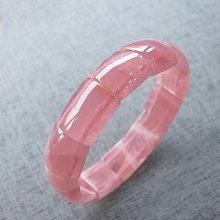 ☆采鑫天然寶石☆~粉嫩紅顏~頂級粉晶手環(手排)~濃彩晶透~極美~