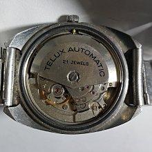 [銀九藝] TELUX 鐵力士 21石 二手 自動鍊機械錶 早期手錶 男錶 (69)