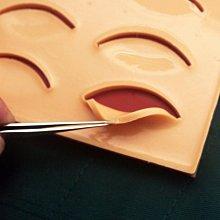 AFF091 (模具+12件套)雙眼皮練習 雙眼皮手術練習 埋線雙眼皮套包不銹鋼手術器械包美容整形縫合練習硅膠模型工具包