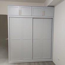 戀連小木屋 淺灰色衣櫃 原木衣櫃 客製款
