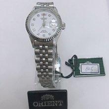 可議價 ORIENT東方錶 女 鑽面簡約時尚 石英腕錶 (HE71F03S) 26mm