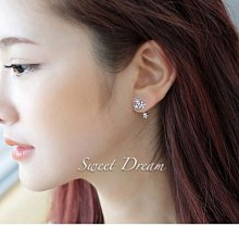 ☆Sweet Dream☆精品氣質名媛閃亮鋯石雪花後掛式2用耳環(銀)299元(銀耳針防敏) 滿399免運
