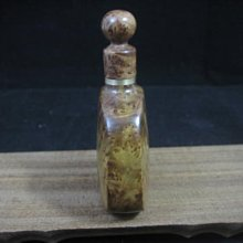 麻梨疙瘩.鼻煙壺.滿瘤花精品.收藏.把玩.....2.3x5.2x8.8cm--392