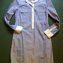 搶空!美國口碑老牌GAP女裝 XS號Shirt Dress貴族休閒質超讚純棉條紋襯衫洋裝含運在台現貨