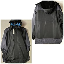 4L~6L厚特超大尺碼刷絨毛風衣防風外套48腰-60腰