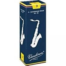 【六絃樂器】全新法國 Vandoren Tenor SAX 次中音薩克斯風竹片 / 密封防潮 藍盒包裝