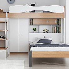 男女兒童房可分拆雙層床上下舖雙層床配件 下層單人加大床架含床頭書櫃 系統家具裝潢