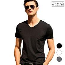 CPMAX 薄款冰絲T恤V領 冰涼酷寒T 短袖透氣無痕T T恤 男生T恤 短袖 V領 冰絲T恤 無痕T T168