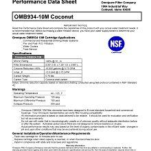【水易購淨水】美國進口 OMNIPURE CTO活性碳濾心-NSF認證