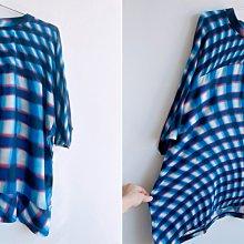 平常小姐┃全新免運┃日本【CABANE de ZUCCa】日本製光影格紋7分袖上衣ⓜ MOVING SHADOW 薄涼