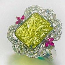 【艾琳珠寶藝術】12.00ct天然黃水晶鑽戒,18k(750),鑽石約045克拉,聚財,附鑑定書