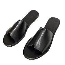 新品搶先看-特價 歐美 百搭 暗黑 實穿 缺口 一字 極簡風 平底拖鞋/涼鞋 黑/棕/杏
