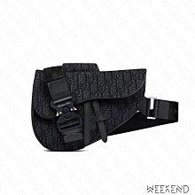 【WEEKEND】 DIOR Saddle Oblique Jacquard 老花 肩背包 斜背包 馬鞍包 黑色