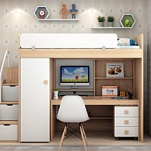兒童雙層床系統家具裝潢上層床下層衣櫃書桌架樓梯櫃