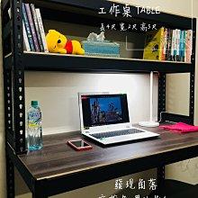 直購》LY 組合架|角鋼【發現角落】高雄 免螺絲角鋼 電腦書桌架,長4呎、寬2呎、高5呎 搭配黑木紋板 2400元 黑色工業風書桌 工作桌 都會區免運