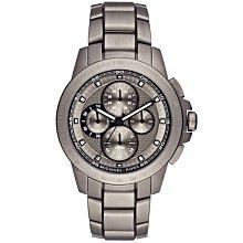 【台南 時代鐘錶 Michael Kors】MK8530 賽車風格 鋼錶帶 三眼計時男錶 鐵灰 43mm
