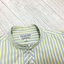 POLO JEANS COMPANY專櫃 條紋 泡泡袖 七分袖 襯衫