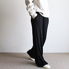 girlmonster 正韓 柔軟口袋休閒寬褲長褲 (黑色/灰色) 【A0637】