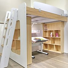 兒童床系統櫃家具上床下書桌櫃裝潢訂製兒童書房雙層床兩用