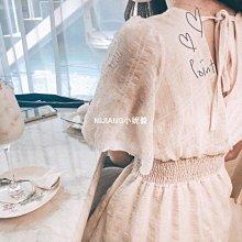 特價韓國⌒超甜美款 V領雪紡高腰洋裝『 ZC0005 』現貨-NIJIANG小妮醬