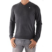 【空姐寶貝】新款Abercrombie & Fitch A&F Men's Lake Road V-Neck S號 鐵灰