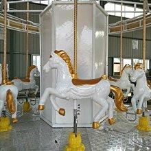 【鑫海育樂】☆客制化6人座中型旋轉木馬,古典小型旋轉木馬 ☆