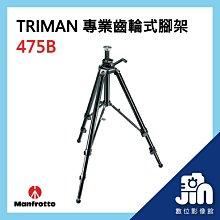 Manfrotto 曼富圖 475B TRIMAN 專業 齒輪式 腳架 鋁合金 載重12公斤 攝影 錄影 晶豪泰