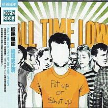 【黑妹音樂盒】低迷樂團 ALL TIME LOW - 提議或住嘴 PUT UP OR SHUT UP----二手CD