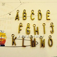 【幸福瓢蟲手作雜貨】一般英文字母《賣場A~T》~zakka/古董/吊墬/拼布材料/拉鍊頭/吊飾/古銅小物~五百免郵
