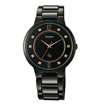 可議價 ORIENT東方錶 女 黑色都會 石英腕錶 (FQC0J001B) 36mm
