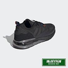 南◇2020 12月 ADIDAS SPACE RACE ZX 2K BOOST 經典鞋 H03247 黑 運動鞋