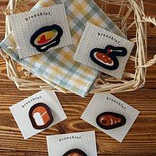 京都 nippon cha cha cha 日本製 甜點 西餐 刺繡 造型 別針 mh