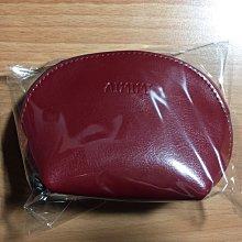 錢包女短款零錢包拉鍊貝殼包新款真皮手拿包手機包女式牛皮小包包(棗紅款)