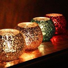 熱銷#歐式橙金方塊純手工馬賽克玻璃燭臺 酒吧浪漫表白燭光晚餐擺件#燭臺#裝飾