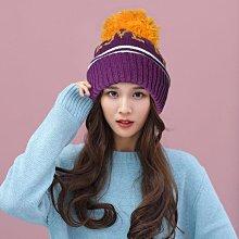 【韓製I LOVE PEACE秋冬保暖造型 R144-7 超大球球針織毛帽