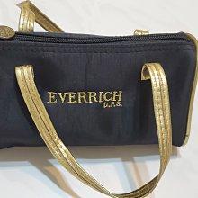 品牌   EVERRICH  D.F.S. 高貴手提包   亮黑色滾邊金色  手提金色  尺寸19 X10.5X 10