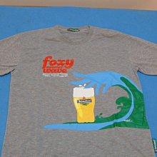 @@ 海尼根 beer foxy summer waue 灰色圓領 T- shirt @@