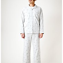 G422滿版 SNOOPY 史努比 男士灰色長袖襯衫+長褲 套裝組 居家服 休閒服 睡衣 Gelato pique