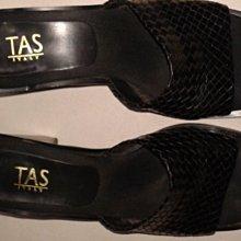 235號tas品牌35號編織中跟涼鞋六百九十 一元起標