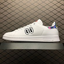 Adidas Stan Smith W 白彩 大眼睛 皮革 時尚 低幫 滑板鞋 CM8417 女鞋