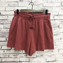 Maple麋鹿小舖 Abercrombie&Fitch * AF 磚紅色鬆緊帶綁帶休閒短褲* ( 現貨M號 )