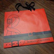 現貨 Roberta di Camerino 專櫃精品紙袋 經典紅 禮物袋 經典LOGO 尺寸45*38*15CM 無汙損 狀況如照片 可與其他紙袋合併運費