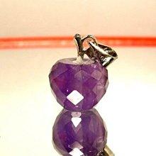 小風鈴~天然切割面紫水晶蘋果墜