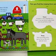 *小貝比的家*LETS PRETEND: ON THE FARM/盒裝拼圖書/3~6歲
