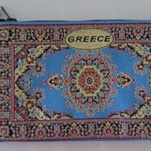 希臘小包,希臘民俗風,拉鏈上有藍眼睛裝飾,旅遊帶回數量不多